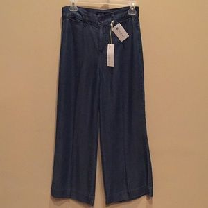 LEVEL 99 Wide Leg Pants Tencel High Waisted NWT